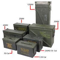 Original US Army Ammo Cans - Tin Box Surplus 30 50 cal Army Military Ammunition