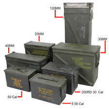 Original US Army Ammo Cans - Tin Box Surplus 30 50 cal Army Military Ammunition