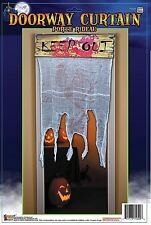 """DOOR CURTAIN """" KEEP OUT """" COVER Creepy Bloody Halloween Haunted House Decor 2-4D"""