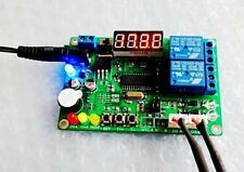 -45℃~125℃ 5-24V 2-CH Digital Temperature Difference Controller Relay + 2 Sensors