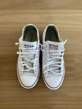 Mens Converse All Stars Chucks White Leather Casual Shoes Sneakers Sz 10