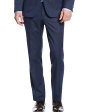 $200 KENNETH COLE men BLUE SLIM FIT FLAT FRONT DRESS SUIT PANTS 37 W 35 L