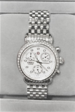 Michele CSX33 Diamond MOP Stainless Steel Watch Chrono
