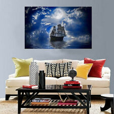 5D Diamond Painting Ship at Sea Embroidery Cross Stitch Home Decor Craft DIY USA