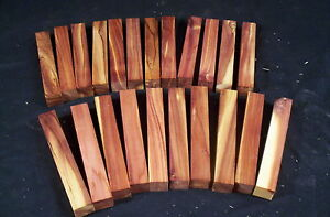 "22 Piece Red Cedar Pen Blanks 3/4 x 3/4 x 5"" Lathe Turning Wood Craft Lumber"