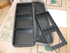 Vintage DynaSound Cassette Tape Holder Storage Carry Case Black Plastic 15 / 21