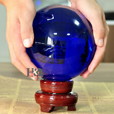 150MM Blue Magic Crystal Healing Ball Sphere Include Wood Stand Gifts Decor New