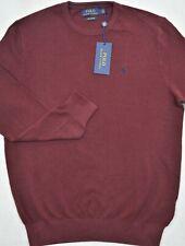 Polo Ralph Lauren Sweater Pima Cotton Crewneck Burgundy Red M Medium NWT $99