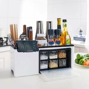 Seasoning Box Container Drawer Spice Rack Tableware Storage Knife Holder Kitchen