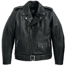 Harley Davidson Men's EL CAMINO II Black Leather MOTORCYCLE Jacket M 98035-12VM