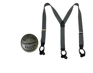 New CTM Men's Big & Tall Elastic Button End Suspender with Bachelor Buttons