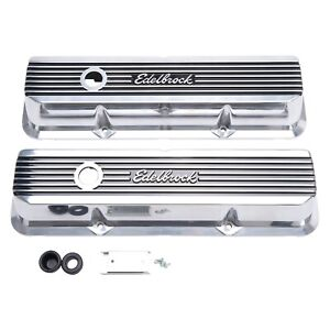 Edelbrock 4277 Valve Covers Elite II Ford FE 1958-76 Polished