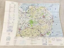1978 Vintage Militär Map Of Norwich Newmarket Norfolk Cambridge USAF Raf Ausgabe