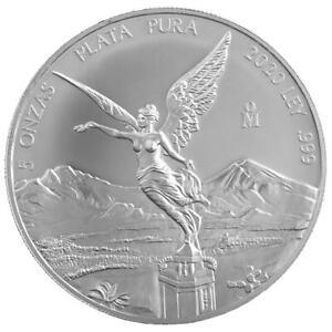 Mexiko - 5 Onza 2020 - Libertad - Siegesgöttin - Anlagemünze - 5 Oz Silber ST