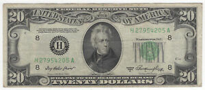 $20 1950-A Federal Reserve Note St. Louis Fr#2060-H