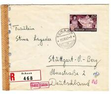 Liechtenstein Sc#146(single frank)-SCHAAN 11/IX/43-REGISTERED(label)-WWII GERMAN