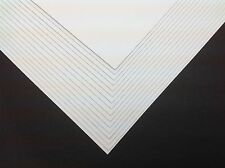 50 x A4 Ice White Pearlescent Shimmer Pearl Card 250gsm ~ Double Sided