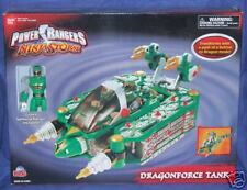 "Power Rangers Ninja Storm 5"" Green Ranger With Dragonforce Tank Factory Sealed!!"