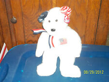 TY BEANIE BUDDIES BUDDY COLLECTION AMERICA TEDDY BEAR PLUSH