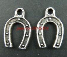 100pcs Tibetan Silver Horse's Foot Charms 17x11mm 14071-1
