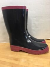 Western Chief Women Navy Mid Height Waterproof Rain Boots Shoes Size 9