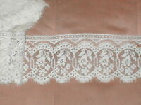 Antique Ivory Color Cotton Lace Trim