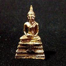 Buddha Miniature Figurine Meditate Thai amulet Protect Lucky Success DAG