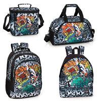 4ddaad82a6 Delbag Graffiti Skate Backpack Kids Adults Rucksack Travel Work Gym School  Bag