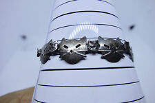 """Vintage Bracelet Links of Cat & Kitten faces Sterling Silver .925 - 6 3/4"""""""