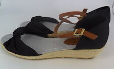 Mustang Shoes Wedge Bow Sandal Black UK 10 EU 44 JS39 88 SALEs