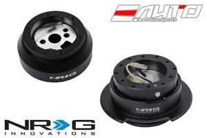 NRG Steering Wheel Short Hub 170H + Black Gen2.5 Quick Release w/ Black Ring a