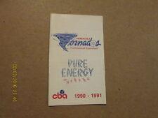 CBA Pensacola Tornados Vintage 1990-91 Pocket Schedule