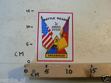 STICKER,DECAL 3D AMORED DIVISION BATTLE READY SPEARHEAD ARMY