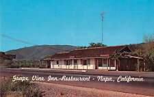 Napa California birds eye view Grape Vine Inn Restaurant vintage pc Z21919
