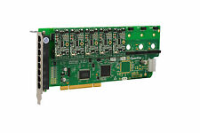 OpenVox A800P50 8 Port Analog PCI Base card + 5 FXS + 0 FXO, Ethernet (RJ45)