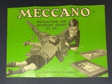 c1950s Booklet: Mecano Instructions for Accessory outfit No 2A