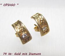 Ohrstecker, 14 kt. Gelbgold mit Diamant  // OPDIGO //
