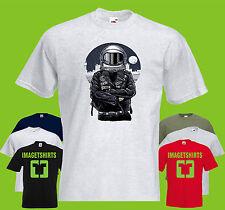 Astronauta rebelde para hombre Printed T-Shirt casco espacial Galaxy Planet espacio Chaqueta