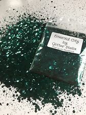 Nail Art Mixed Glitter ( Emerald City )10g Bag Chunky Green Metallic Sparkles