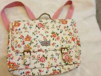 CATH KIDSTON Ditsy Kids Satchel/backpack, pink and cream floral Oilcloth