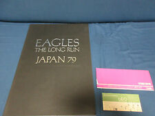 Eagles 1979 Long Run Japan Tour Book w Ticket Stub Don Henley Glenn Frey Program