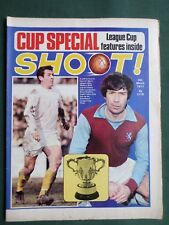 SHOOT -FOOTBALL MAGAZINE-6 MAR 1971- CUP SPECIAL- PETER THOMPSON - LUIS CUBILLA