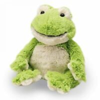Fully Microwaveable Soft Plush Toy Heatable With Relaxing Lavender - Frog