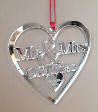 Mirror Personalised Christmas Tree Decoration 1st First Christmas Gift Bauble