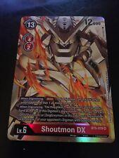 New listing Digimon Card Game TCG Shoutmon DX SR BT5-019 Super Rare