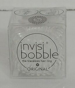 New invisibobble Original Crystal Clear Hair Elastic + free shipping 🛫🛬