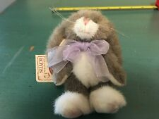 Boyds Bears Skip Hopsey Gray Jointed Easter Bunny Rabbit Hare Ornament w Tags