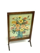 More details for antique oak needlepoint fire screen [7127 ]
