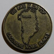 12th Space Wing Sq Top Of The World Thule AB Greenland Air Force Challenge Coin