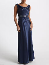 NEW + TAGS * JOHN LEWIS * MIDNIGHT BLUE MAXI EVENING DRESS SZ 20 RRP £195